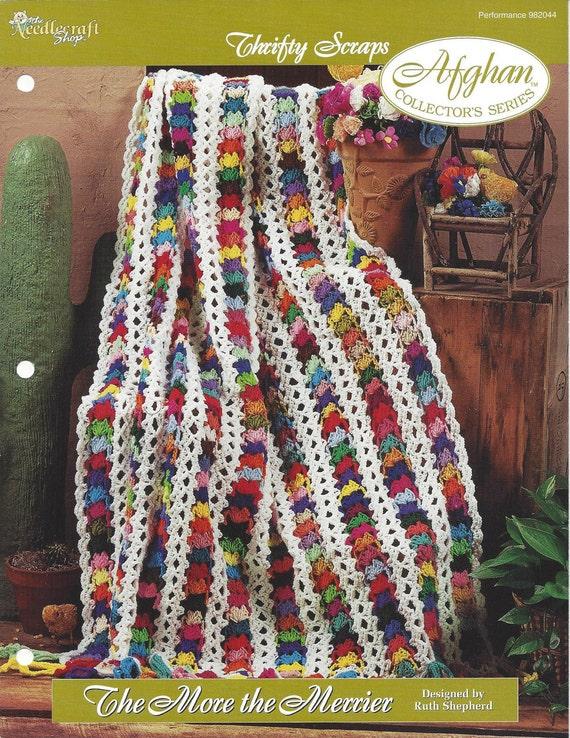 Crochet Scrap Afghan Pattern Home Decor Heirloom Bedspread Etsy