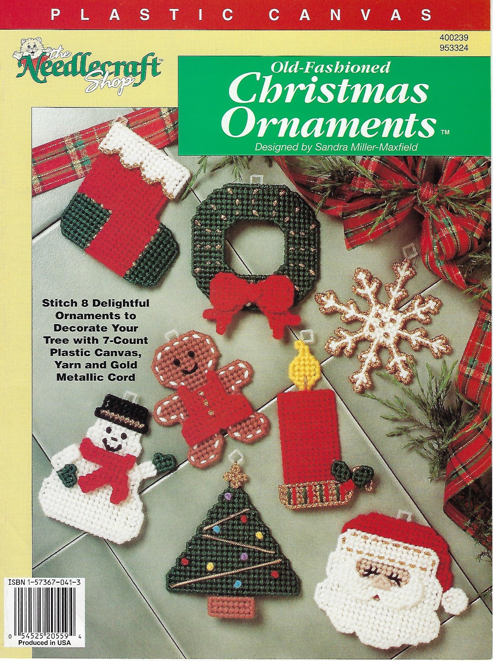 Plastic Canvas Pattern Old Fashioned Christmas Ornaments | Etsy