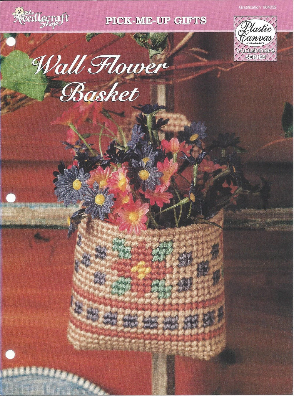 Wall Flower Basket Plastic Canvas Pattern Home Decor Wall Etsy