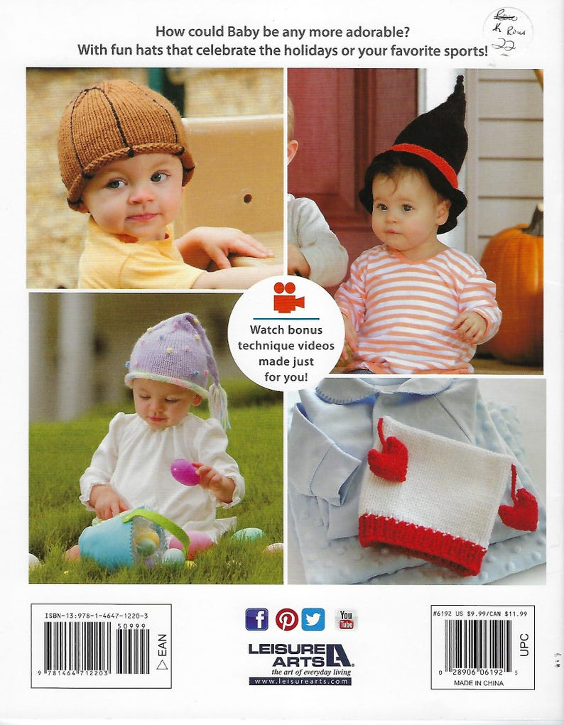 Easter Hat Baby Gift Shamrock Christmas Witch Ghost Heart Knit Hats For Babies Pattern Book Baby Shower Football /& Basketball Hat
