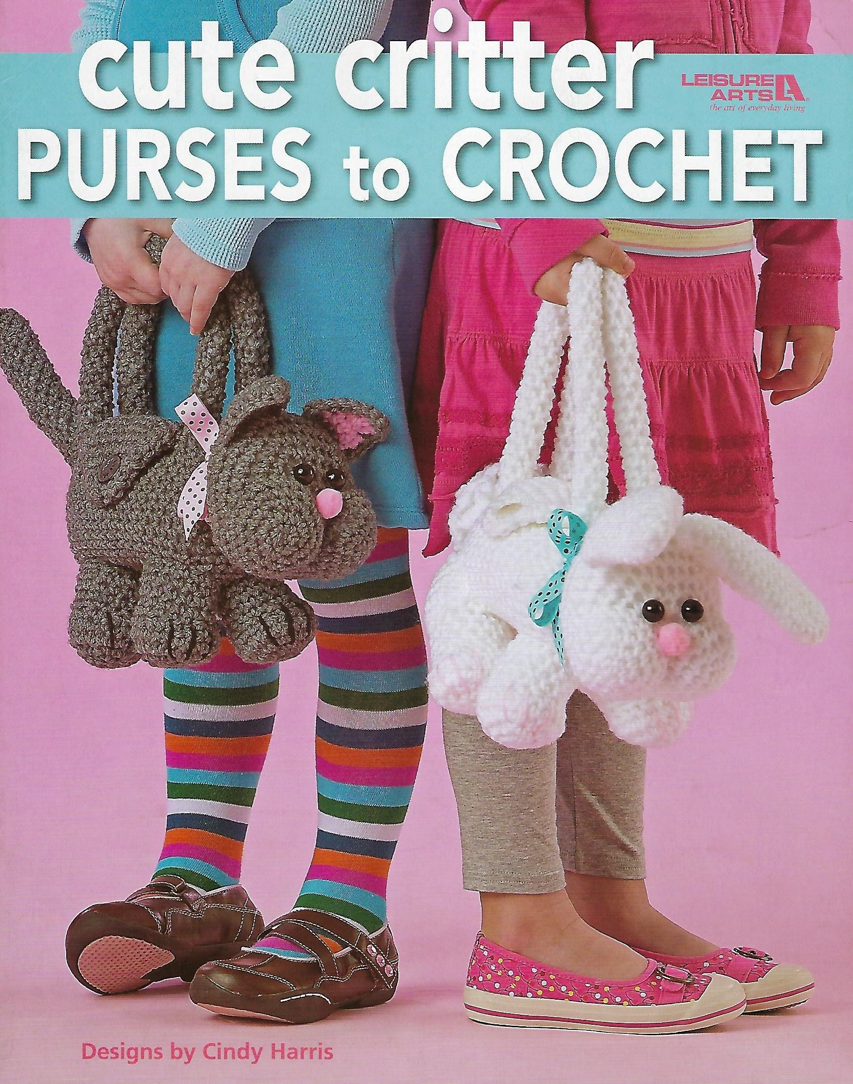 Cute Critter Purses To Crochet Pattern Book Girls Purse Etsy