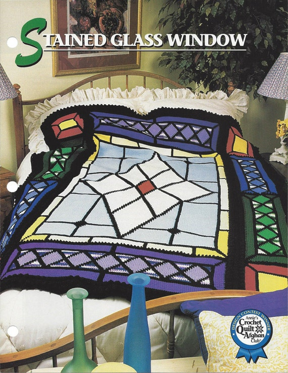 Crochet Afghan Pattern Stained Glass Window Annies Etsy