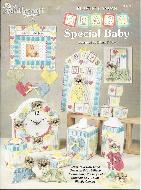 Beary Special Baby Plastic Canvas Pattern The Needlecraft Etsy