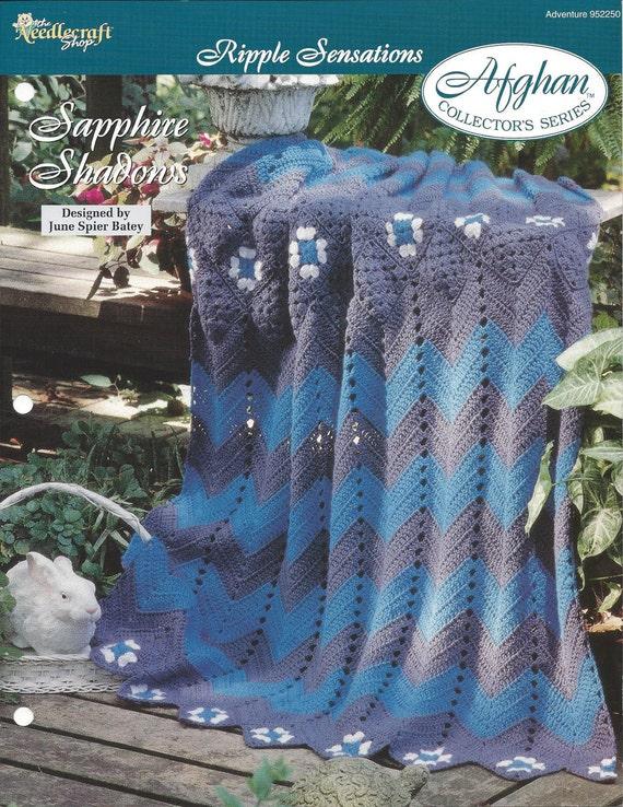 Crochet Granny Ripple Afghan Pattern Home Decor Heirloom Etsy