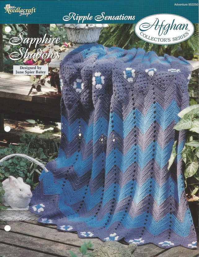 Crochet Granny Ripple Afghan Pattern Home Decor Heirloom Etsy