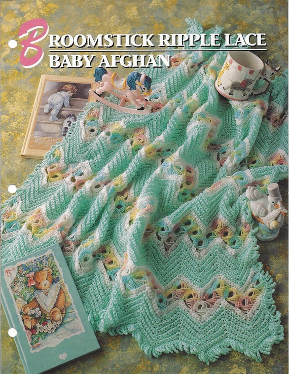 Broomstick Ripple Lace Baby Afghan Pattern Annies Etsy