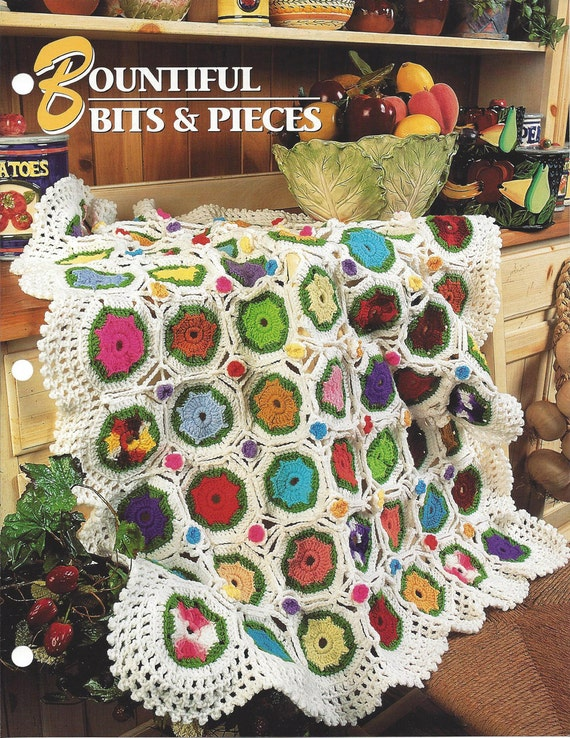 Bountiful Bits And Pieces Annies Crochet Quilt Afghan Etsy