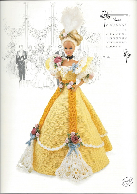 Miss June 1994 The Gibson Girl Collection Crochet Pattern   Etsy