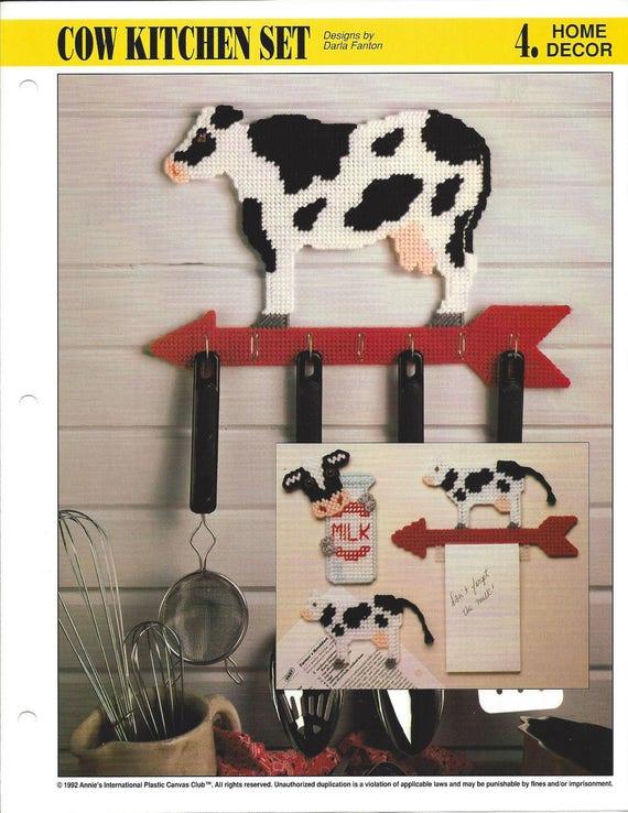 Merveilleux Cow Kitchen Set Plastic Canvas Pattern Kitchen Decor Utensil | Etsy