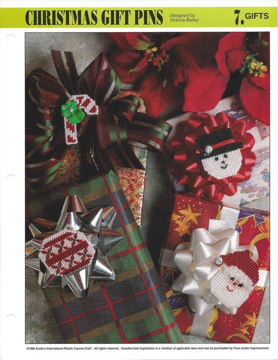 Ribbon Candy Ornaments Plastic Canvas Pattern Gift Tags Christmas