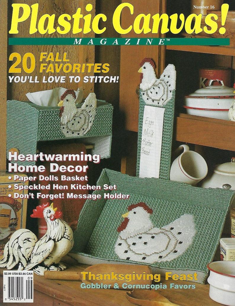 SeptemberOctober 1991 Issue No Plastic Canvas Magazine Pattern Book 16