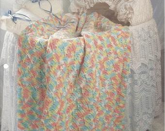 Waltzing Arrows - Afghan Collector's Series - The Needlecraft Shop - Crochet Pattern Baby Afghan Blanket, Crochet Crib Afghan, Baby Bedding