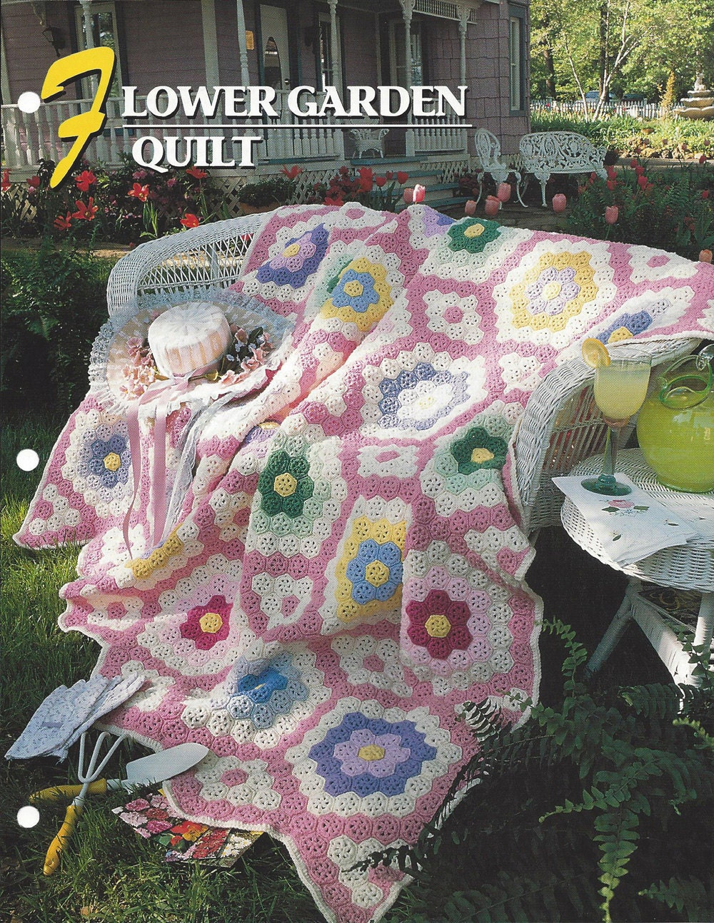 Flower Garden Quilt Afghan Pattern Annies Crochet Etsy