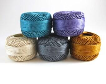 Coastal Breeze Pearl Cotton Thead Set 5 Color Finca Perle Cotton Thread Set