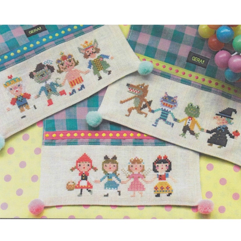Counted Cross Stitch Pattern by Kyoko Maruoka FUNNY QUARTETS Gera Modern Cross Stitch Pattern
