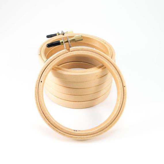 Wood Embroidery Hoop 3in 6 Pack