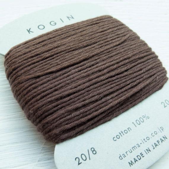 #7 Daruma Kogin Sashiko Thread Card 3 Indigo 20 Meter