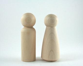 Peg Doll DIY Wedding Cake Topper Waldorf Wooden Figurine - Made in USA