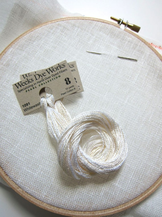 Needlework Applique Perle Cotton Floss Thread for Embroidery Weeks Dye Works Hand Pearl Cotton Size 8 SCHNECKLEY Hand Quilting