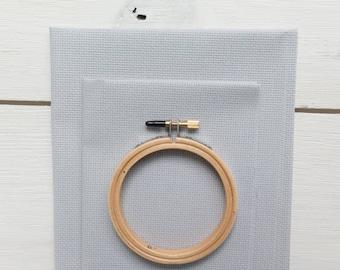 Cross Stitch Fabric - 14 count Aida Cloth | 100 percent cotton Gray Cross Stitch Aida Fabric - Touch of Gray (14 ct)