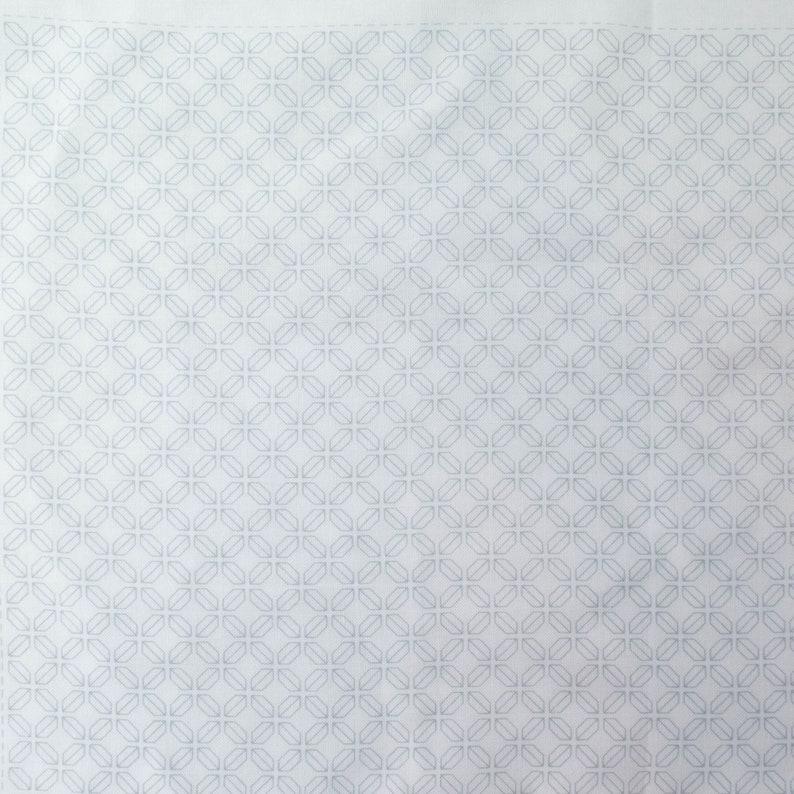 Hitomenzashi Sashiko Sampler Pre-Printed in Washable Ink on Cotton Fabric Sashiko Pattern 1064 Kaku-Shippo