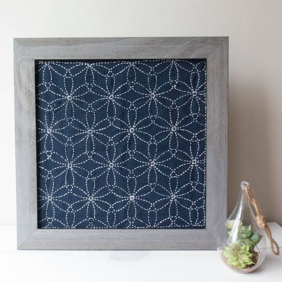 Sashiko Kit Olympus Sashiko Embroidery Pattern Traditional Etsy