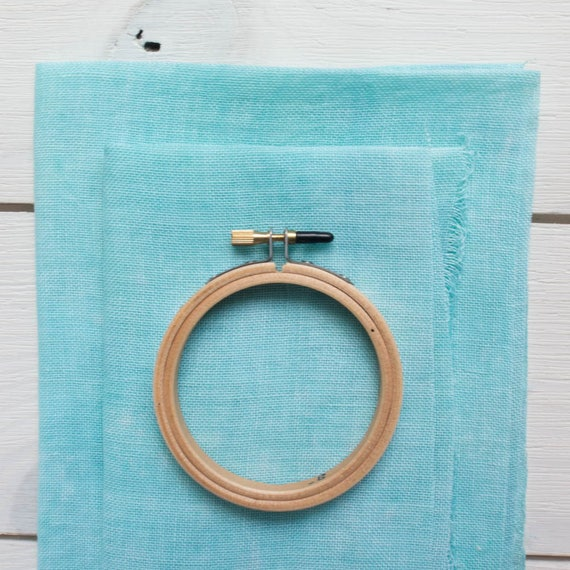 28 ct Hand-Dyed Cross Stitch Fabric | 28 count Cashel Linen for Counted  Cross Stitch, Embroidery - Caribbean Blue