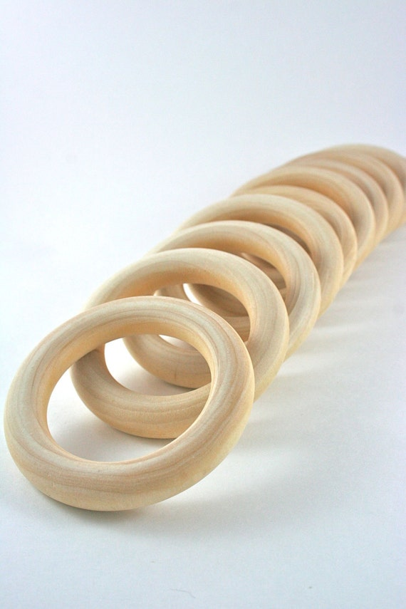 10 Wood Rings 3 Inch Unfinished Wooden Rings For Waldorf Inspired Crafts Hand Kites Fairy Rings Montessori Games