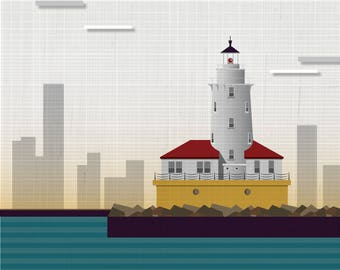 Chicago / Chicago Harbor Lighthouse -  Art Print