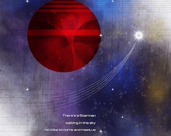David Bowie / Starman Art Print