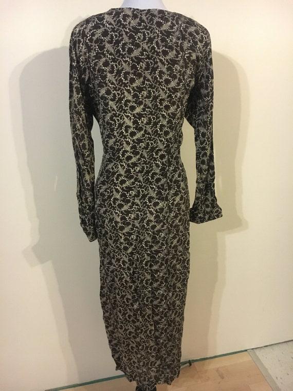 1940s brown print dress - image 3