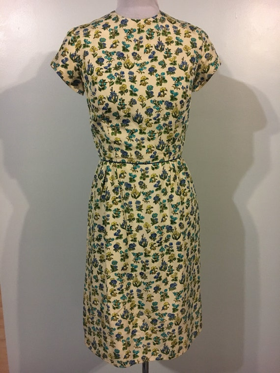 570d55fe23c Beautiful 1950s Lord and Taylor silk dress