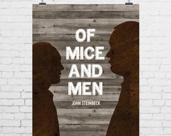 DIGITAL PRINT - Of Mice and Men by John Steinbeck