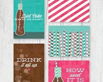 Journaling Cards - Diet Coke