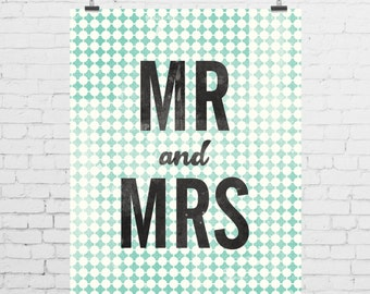 DIGITAL PRINT - Mr and Mrs