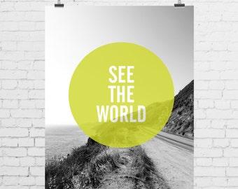 DIGITAL PRINT - See the World