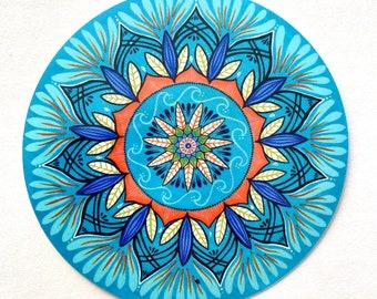 vinyl mandala sticker - vinyl art sticker