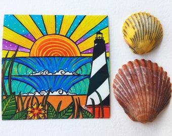 hatteras delight vinyl sticker - cape hatteras lighthouse sticker - vinyl outer banks sticker - 4 inch decal - obx sticker - hatteras island