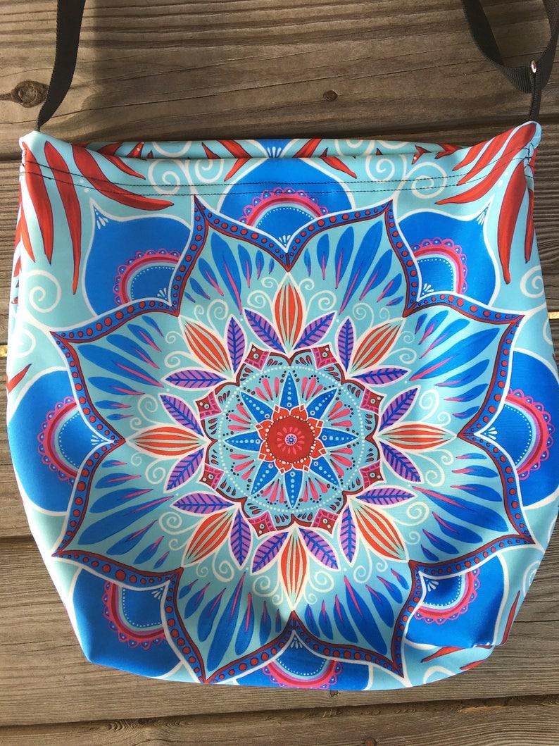 8349953406ca smile meditation tote bag - mandala bag - boho tote - bohemian purse -  mandala - wearable art - festival bag - psychedelic tote bag