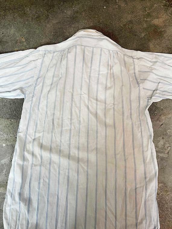Vintage Antique 1910s 20s men's white striped but… - image 8