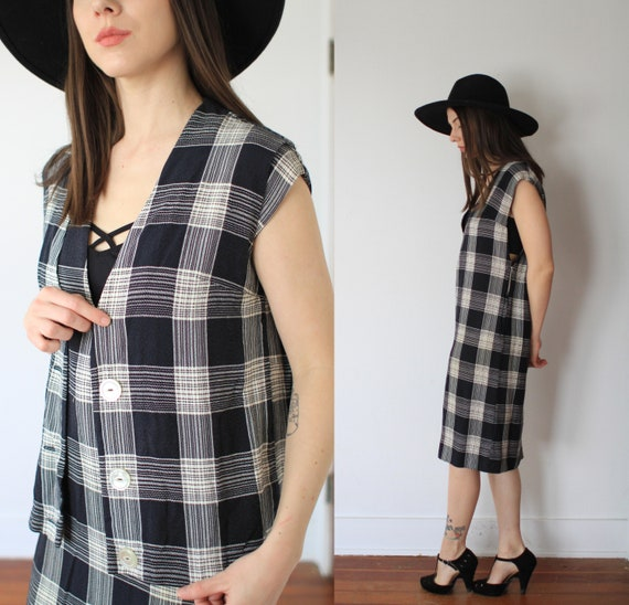 Vintage 1950s large two piece dress + vest set / … - image 4