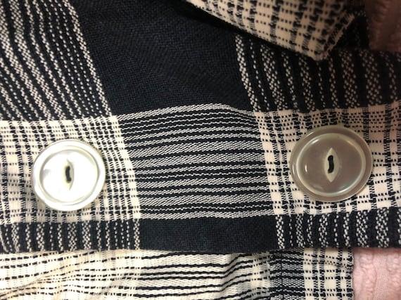 Vintage 1950s large two piece dress + vest set / … - image 9
