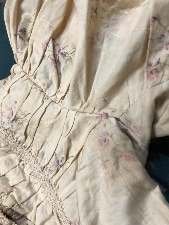 Antique vintage XS 1900s 1910s calico floral dres… - image 5