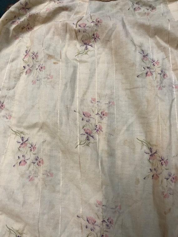 Antique vintage XS 1900s 1910s calico floral dres… - image 7