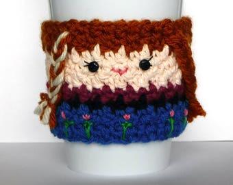 Gefrorene Anna Kaffee Tasse gemütlich häkeln