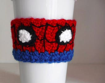 Crochet Spider-Man Coffee Cup Cozy
