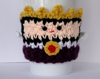 Crochet Evil Queen Coffee Cup Cozy