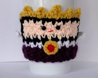 Böse Königin Tasse Kaffee gemütlich häkeln
