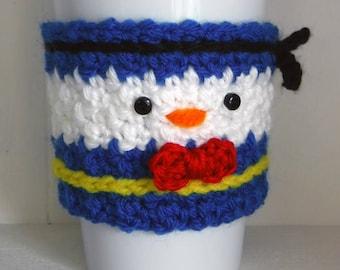 Häkeln Sie Donald Duck Tasse Kaffee gemütlich