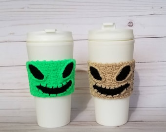 Crocheted Oogie Boogie Coffee Cup Cozy ~ Choose One